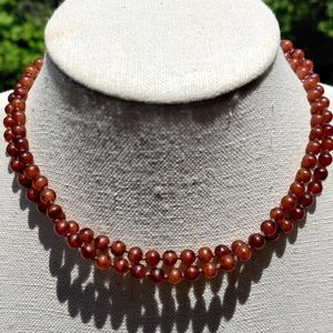"""Antique 30"""" baltic cherry amber necklace"""